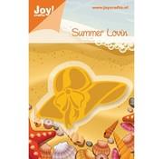 Joy Crafts, stranden hat skabelon.