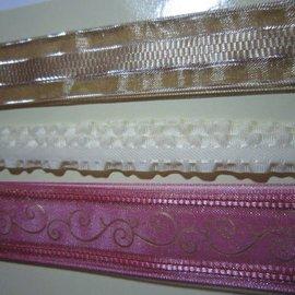 DEKOBAND / RIBBONS / RUBANS ... Vintage 3 dekorative bånd pr. 1 meter