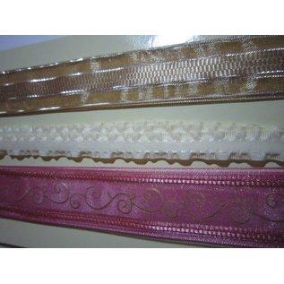 DEKOBAND / RIBBONS / RUBANS ... Vintage 3 decoratieve linten per 1 meter