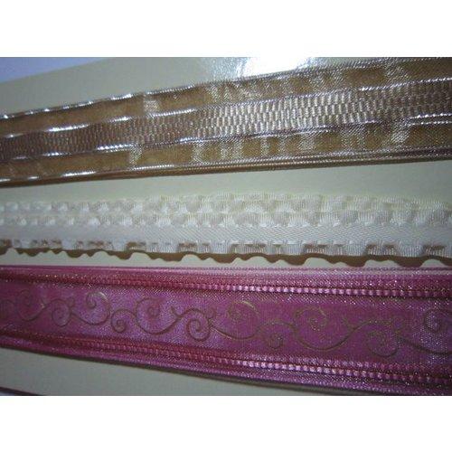 DEKOBAND / RIBBONS / RUBANS ... Vintage 3 decorative ribbons per 1meter
