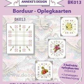 KARTEN und Zubehör / Cards 3 printed cards + 3 envelopes 13.5 x 13.5 cm