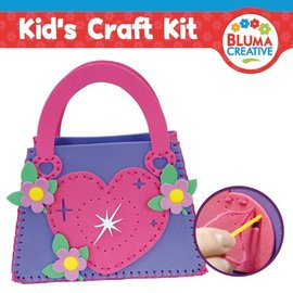 Kinder Bastelsets / Kids Craft Kits Heart bag for kids - back in stock!