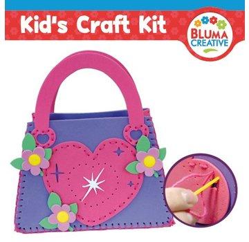 Kinder Bastelsets / Kids Craft Kits Bastelset: Herz Tasche für Kinder - zurück vorrätig!