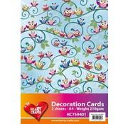 Karten und Scrapbooking Papier, Papier blöcke 2 lagner, designer papir ugle A4 210gr