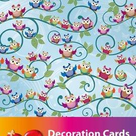 Karten und Scrapbooking Papier, Papier blöcke 2 sheets, designer paper owl A4 210gr