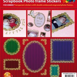 Sticker Scrapbook, adesivi in ​​rilievo, cornice decorativa