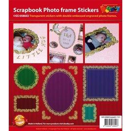 STICKER / AUTOCOLLANT Scrapbog, prægede klistermærker, dekorativ ramme