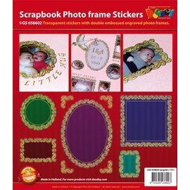 STICKER / AUTOCOLLANT Scrapbook, geprägte stickers, Zierrahmen