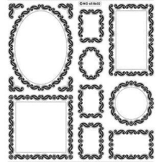 STICKER / AUTOCOLLANT Plakboek, reliëf stickers, sierlijst