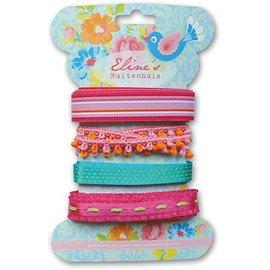 DEKOBAND / RIBBONS / RUBANS ... Marianne Design Eline's color ribbons, 4x1, 9mtr
