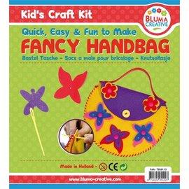 Kinder Bastelsets / Kids Craft Kits Bastelset Schmetterlinge Tasche für Kinder - Moosgummi