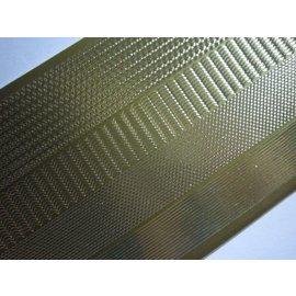 STICKER / AUTOCOLLANT Klistermærker, margener smal, guld-guld, str. 10x23cm