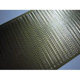 STICKER / AUTOCOLLANT Stickers, golf randen, fijn, goud-goud, 10x23cm.