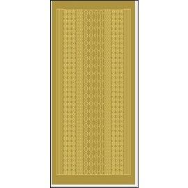 STICKER / AUTOCOLLANT Sticker, Ränder, Blumen und Herzchen, gold.