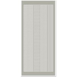 Sticker Sticker, Ränder schmal, silber-silber, Format 10x23cm