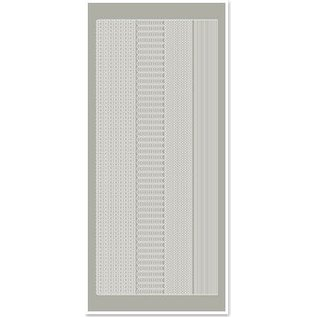 STICKER / AUTOCOLLANT Stickers, marges smal, zilver-grijs, maat 10x23cm
