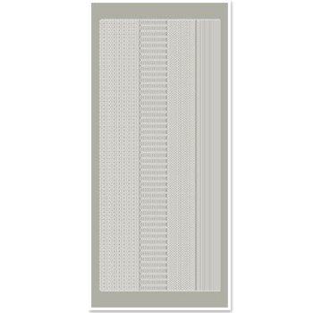 Sticker Klistermærker, margener smalle, sølvgrå, størrelse 10x23cm