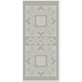 Sticker Autocollants, Grand angle 1, gris argenté, taille 10x23cm