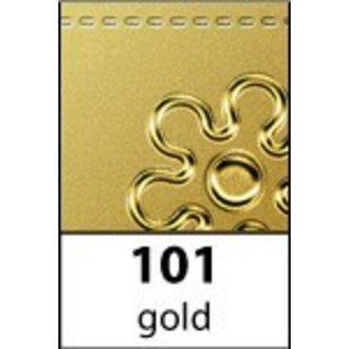 STICKER / AUTOCOLLANT Ziersticker, hoek versiering in goud, 10x23cm.
