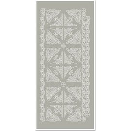 STICKER / AUTOCOLLANT Stickers, corners and edges, silver-gray, size 10x23cm
