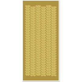 STICKER / AUTOCOLLANT Adesivi, bordi in pizzo, ampia, oro-oro, dimensioni 10x23cm
