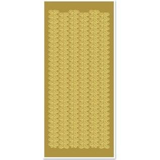 STICKER / AUTOCOLLANT Stickers, kantgrenzen, breed, goud-goud, formaat 10x23cm