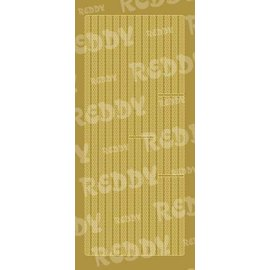 Sticker Stickers, borders, small circles, gold-gold, size 10x23cm