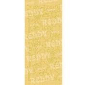 Sticker Klistermærker, og Chicks Påske klokke, guld perle og guld, størrelse 10x23cm
