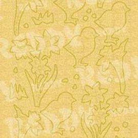 Sticker Pegatinas, Pascua y polluelos de campana, el oro de la perla y oro, tamaño 10x23cm