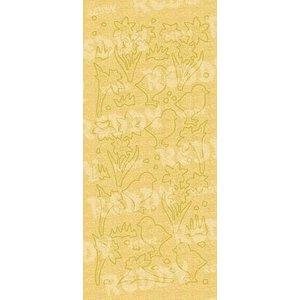 Sticker Sticker, Küken & Osterglocke, gold-perlmutt-gold, Format 10x23cm
