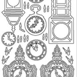 Sticker Ziersticker, clock, gold, 10x23cm