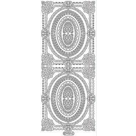 STICKER / AUTOCOLLANT Ziersticker, lijst overzicht, goud, 10x23cm