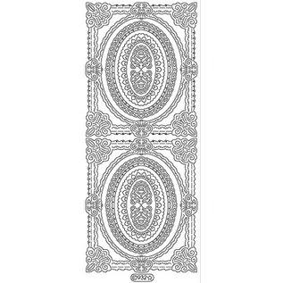 STICKER / AUTOCOLLANT Ziersticker, telaio contorno, oro, 10x23cm