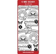 Sticker Gefeliciteerd labels