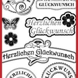 Sticker Herzlichen Glückwunsch Labels