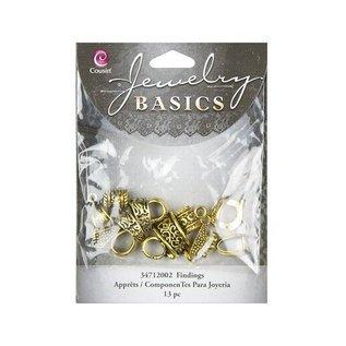 Embellishments / Verzierungen Bail Mixed Pack - Gold (13pcs)