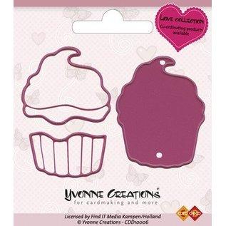 Yvonne Creations Yvonne Creations - Cut & rilievo Die - Amore Cupcake