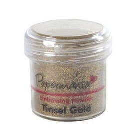 Papermania, EMBOSSING POWDER 1 OZ TINSEL GOLD - 28 Gram