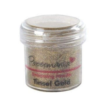 Papermania, embossing pulver 1 OZ GOLD Tinsel - 28 Gram