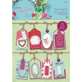 Docrafts / Papermania / Urban Parcel Tags Kit - Met Kerstmis Lucy Cromwell