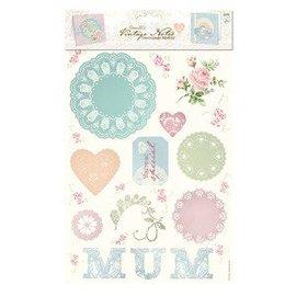 Bilder, 3D Bilder und ausgestanzte Teile usw... Medley Decoupage (2pk) - Vintage Notes - Mum