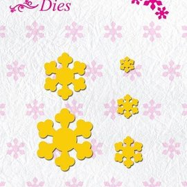 Nellie Snellen Fold cutting and embossing stencil, flower shape for