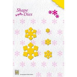 Nellie Snellen Pliez découpe et gaufrage pochoir, en forme de fleur pour