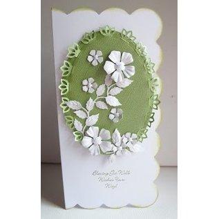 Nellie Snellen Vouw snijden en embossing stencil, bloemvorm voor