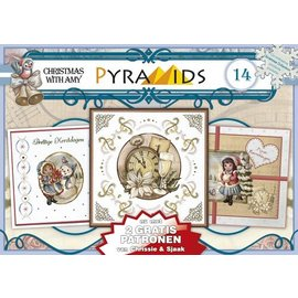 Bücher, Zeitschriften und CD / Magazines 1 A5 bog 3D pyramide bue, julemotiver 8 DIN A5 ark