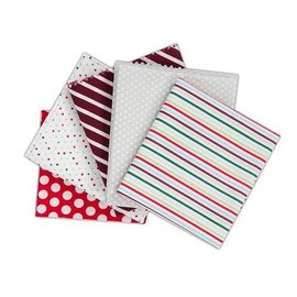 Textil Paquete fabuloso Quarters grasa contiene 5 piezas 460 x 560 mm Tela