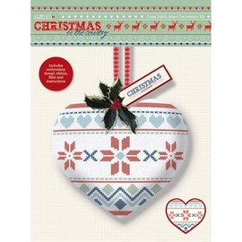 Komplett Sets / Kits Cross Stitch Heart Dekoration Kit - Christmas in the Country - Fair Er
