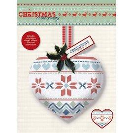 Komplett Sets / Kits Cross Stitch Hjerte dekorasjon Kit - Christmas in the Country - Fair Er