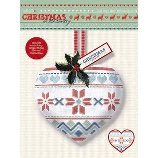 Komplett Sets / Kits Cross Stitch Heart Decoration Kit - Kerstmis in het Land - Fair Is