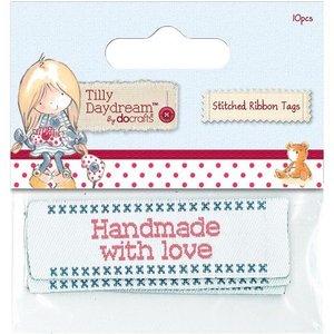Embellishments / Verzierungen Sewn tape labels (10) - Tilly Daydream
